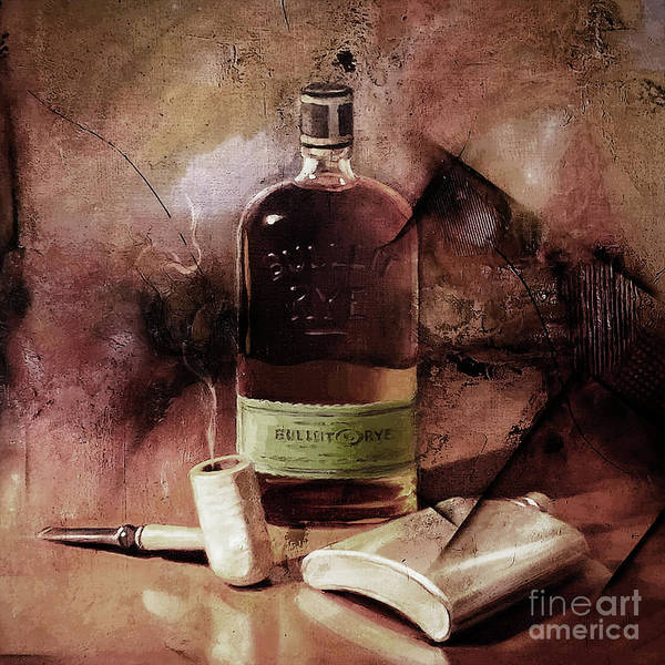 Wall Art - Painting - Liquor And Cigar by Gull G