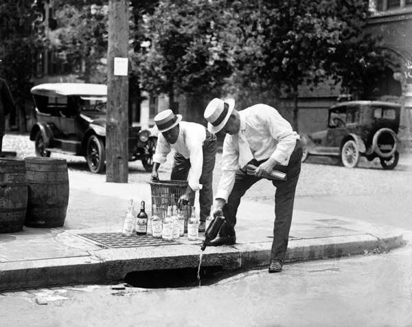Era Photograph - Liquor Down The Drain - Prohibition Era - 1921 by War Is Hell Store