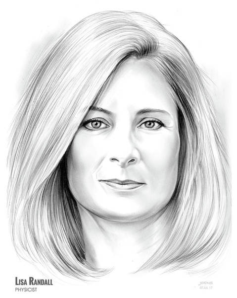 Wall Art - Drawing - Lisa Randall by Greg Joens