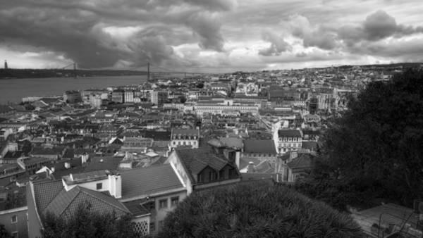 Photograph - Lisbon Portrait Bw by Joan Carroll