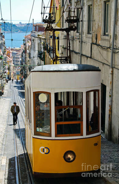 Photograph - Lisbon - Portugal - Elevador Da Bica by Carlos Alkmin