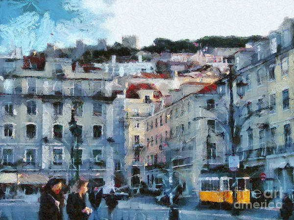Painting - Lisbon Street by Dimitar Hristov