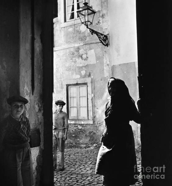 Photograph - Lisbon Street Scene by Granger