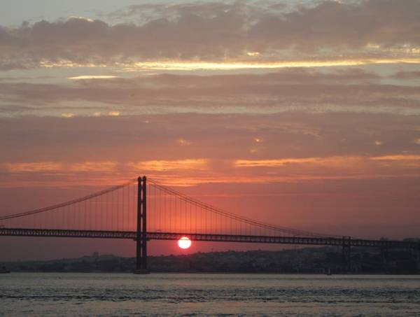 Photograph - Lisbon Tagus River Sunset II Portugal by John Shiron