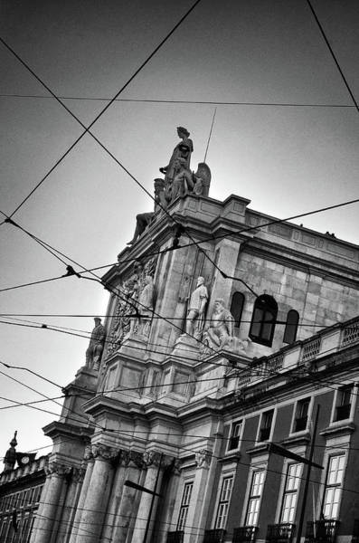 Town Square Wall Art - Photograph - Lisbon Tram Wires by Carlos Caetano