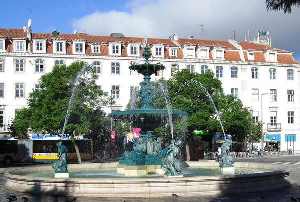 Photograph - Lisbon Water Fountain Iv Portugal by John Shiron