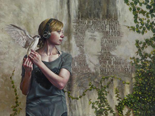Rock Texture Painting - Listen 25 by Brent Schreiber
