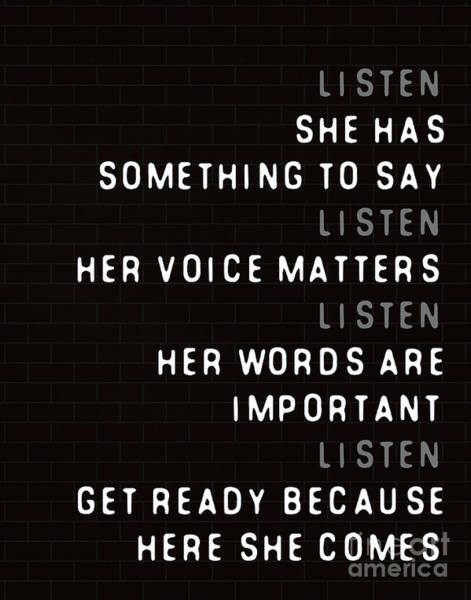 Voices Digital Art - Listen To Her by L Bee