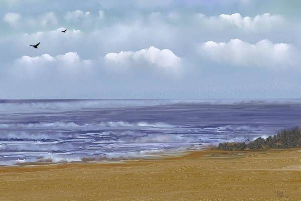 Digital Art - Listen To The Waves by Tony Rodriguez