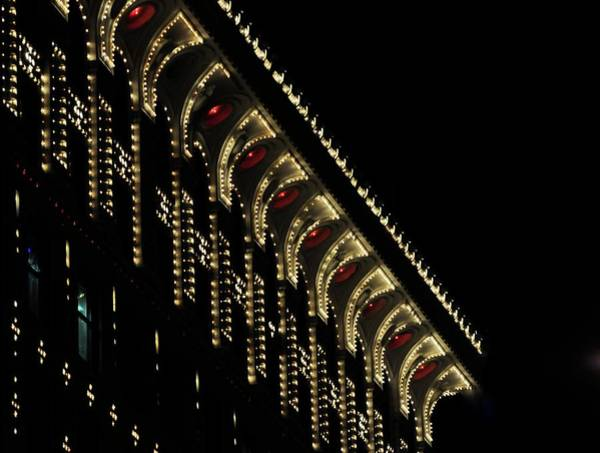 Photograph - Lit Building At Night by Jerry Sodorff