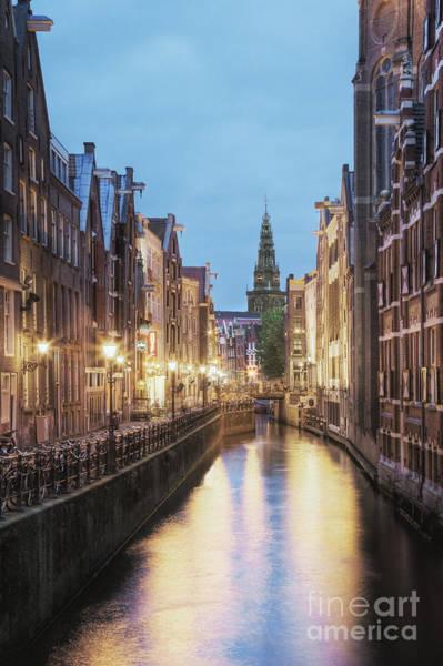 Wall Art - Photograph - Lit Canal Between Buildings by Andersen Ross