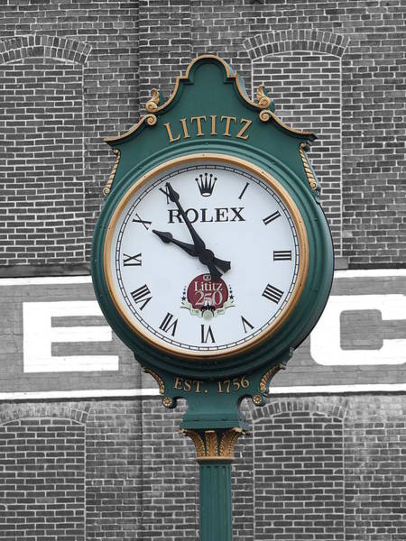 Photograph - Lititz Clock by Richard Reeve