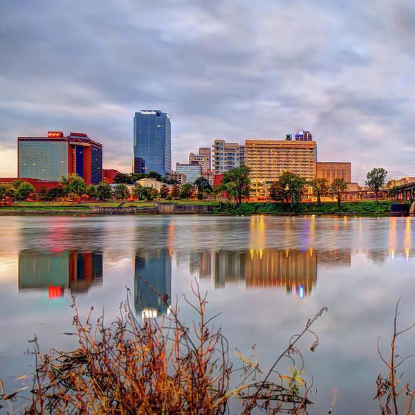 Photograph - Litle Rock Arkansas Skyline - Square by Gregory Ballos