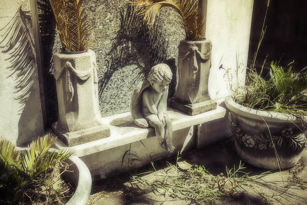 Crypt Photograph - Little Angel by Garry Gay