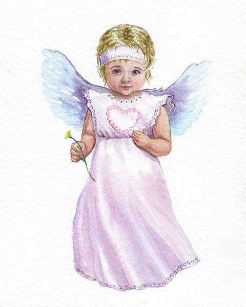 Girly Painting - Little Angel  by Irina Sztukowski