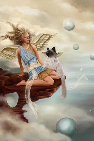 Esoteric Painting - Little Angel by Maggie Terlecki