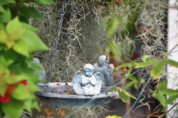 Photograph - Little Angels Bird Bath by Bill Cannon