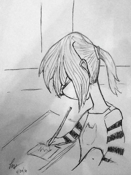 Drawing - Little Artist by Loretta Nash