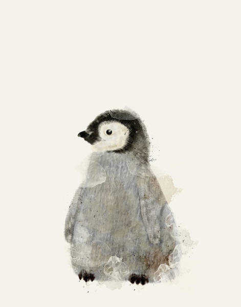 Wall Art - Painting - Little Baby Penguin by Bri Buckley