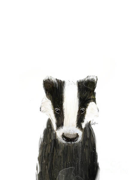 Fauna Painting - Little Badger by Bri Buckley