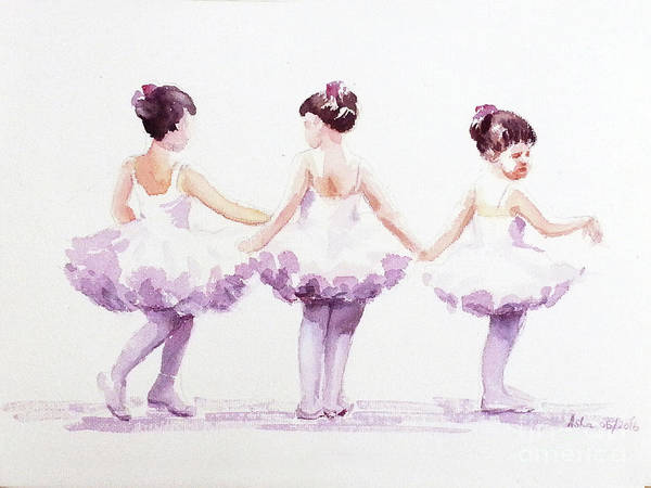 Painting - Little Ballerinas-3 by Asha Sudhaker Shenoy