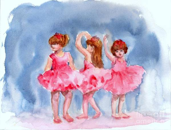Painting - Little Ballerinas by Asha Sudhaker Shenoy