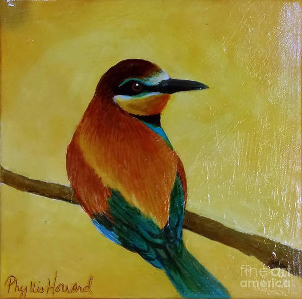 Painting - Little Bee Eater by Phyllis Howard