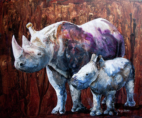Painting - Little Big Horn by Sherry Shipley