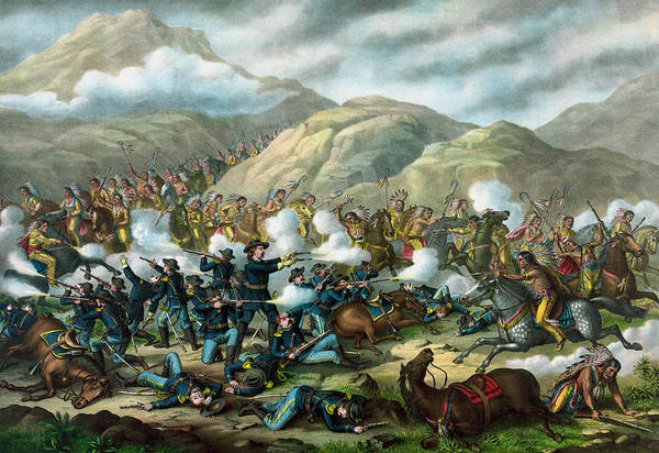 Wall Art - Painting - Little Bighorn - Custer's Last Stand by War Is Hell Store