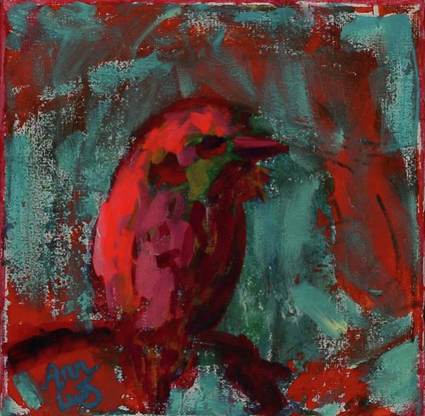 Wall Art - Painting - Little Bird by Ann Lutz