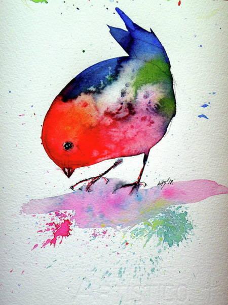 Wall Art - Painting - Little Bird II by Kovacs Anna Brigitta