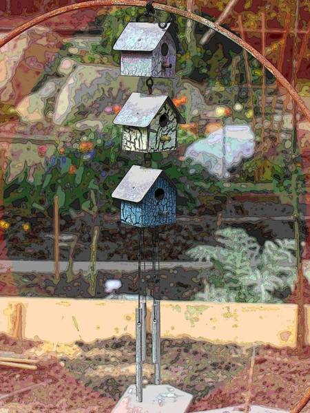 Pea Digital Art - Little Birdie Condo by Tim Allen