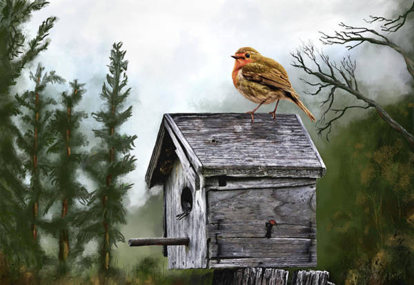Digital Art - Little Birdie by Susan Kinney