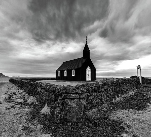 Black Cloud Photograph - Little Black Church 2 by Larry Marshall