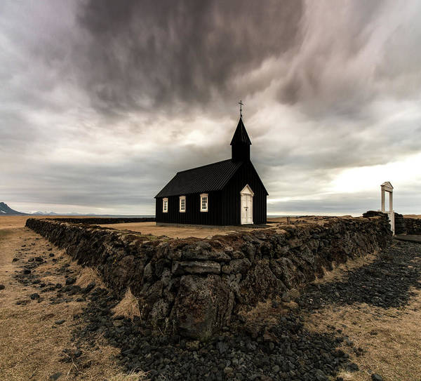 Churches Photograph - Little Black Church by Larry Marshall