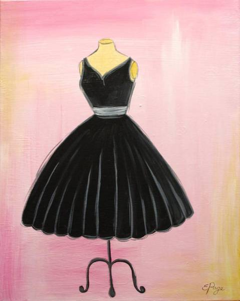 Painting - Little Black Dress by Emily Page