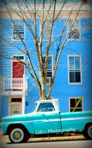 Wall Art - Photograph -  Blue House by Lidiya Bryant