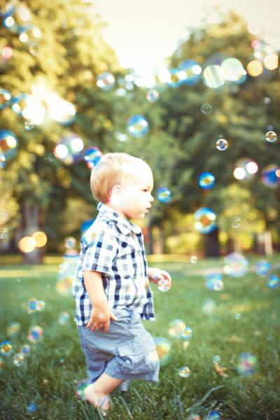 Wall Art - Photograph - Little Boy In Grass Running by Gillham Studios