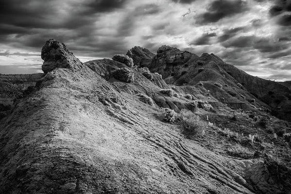 Grand Staircase National Monument Photograph - Little Broken Hill In B/w by Joseph Smith