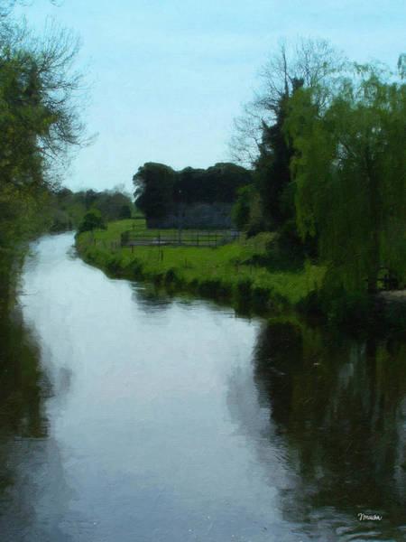 Wall Art - Painting - Little Brosna River Riverstown Ireland by Teresa Mucha
