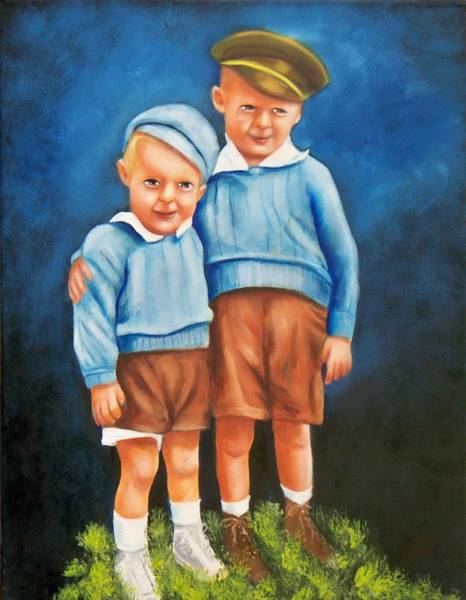 Painting - Little Brothers by Joni McPherson