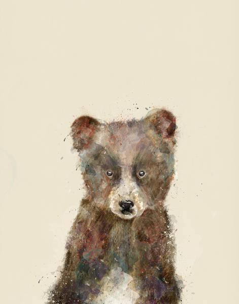 Wild Bear Painting - Little Brown Bear by Bri Buckley