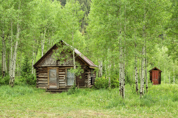 Photograph - Little Cabin And Outhouse by Denise Bush