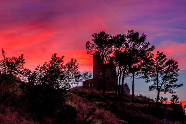 Photograph - Little Chapel In Sunset by Wolfgang Stocker