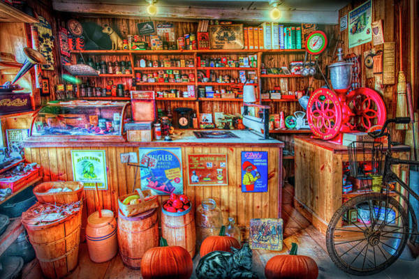 Photograph - Little Country Grocery In Hdr Colors by Debra and Dave Vanderlaan