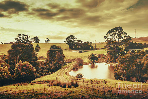 Wall Art - Photograph - Little Country Road Near Pond In Rural Australia by Jorgo Photography - Wall Art Gallery