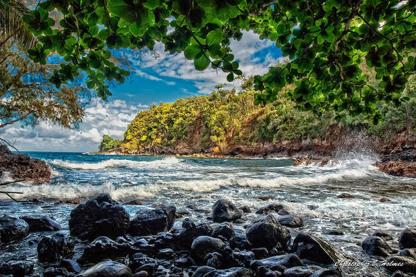 Photograph - Little Cove On Hawaii' by Christopher Holmes