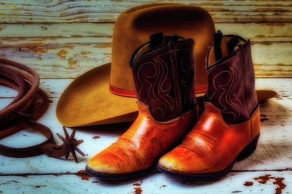Wall Art - Photograph - Little Cowboy Boots by Garry Gay