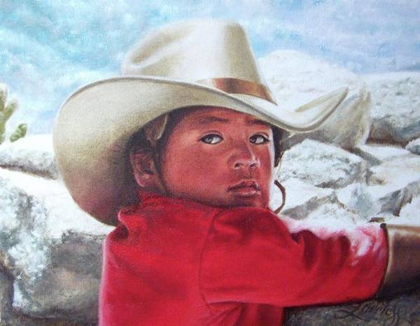 Latino Painting - Little Cowboy by James Loveless