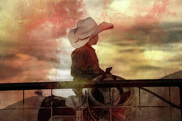 Wall Art - Photograph - Little Cowboy Ready To Rope by Toni Hopper